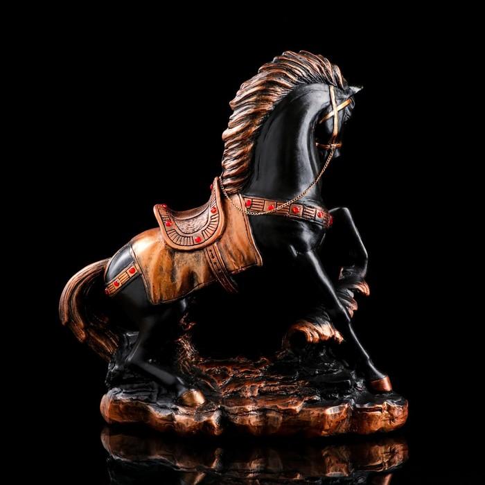 """Сувенир """"Грациозный конь"""", вороной со стразами - фото 369715640"""