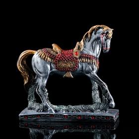 "Сувенир ""Гарцующий конь"", чёрный, 35 см"
