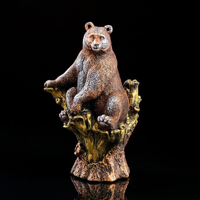 """Сувенир """"Медведь на ветке"""", бронзовый цвет, 32 см"""