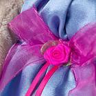 Мягкая игрушка «Зайка Ми» в синем платье с розовым бантиком, 23 см - фото 105613778