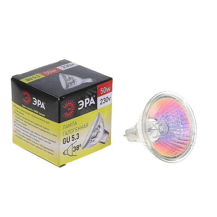 Лампа галогенная ЭРА GU5.3-JCDR (MR16) -50W-230V-Cl
