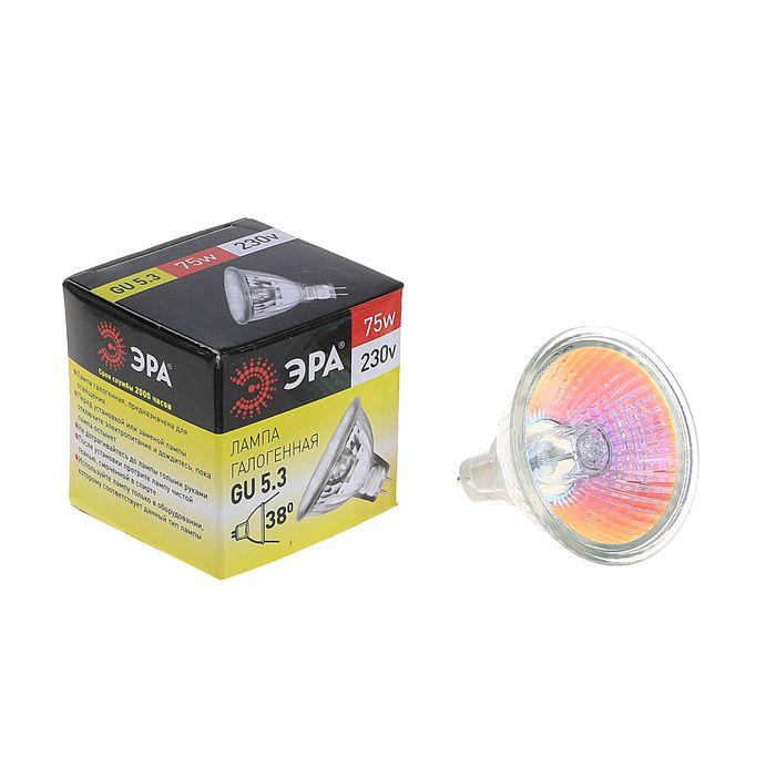 """Лампа галогенная """"Эра"""" GU5.3-JCDR (MR16) -75W-230V-Cl"""