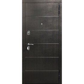 Дверь входная 10,5 см Чикаго Дуб шале корица Царга 2050х860 (левая) Ош