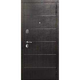 Дверь входная 10,5 см Чикаго Дуб шале корица Царга 2050х960 (левая) Ош