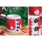 "Cover for mugs ""Christmas mood"", set for knitting, 12 × 10 × 4 cm"