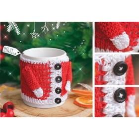 Чехол для кружки «Новогоднее настроение», набор для вязания, 12 × 10 × 4 см