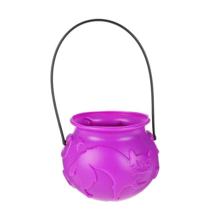 """Конфетница """"Кошка"""", цвет фиолетовый"""