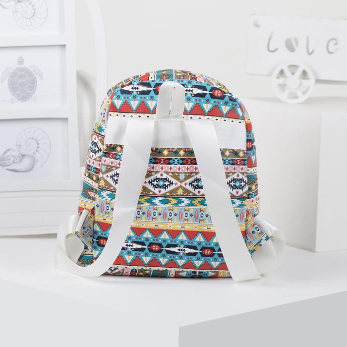 Рюкзак детский, отдел на молнии, наружный карман, 2 боковых кармана, цвет разноцветный - фото 369759045