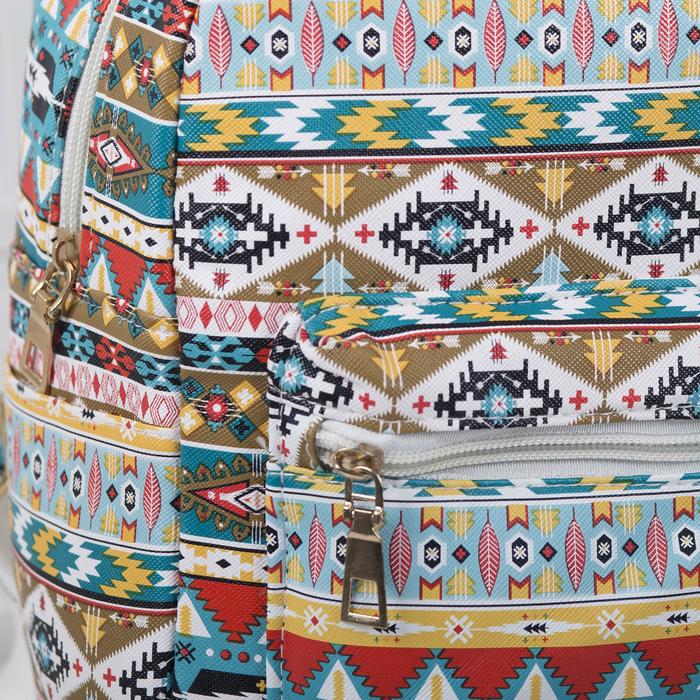 Рюкзак детский, отдел на молнии, наружный карман, 2 боковых кармана, цвет разноцветный - фото 369759046