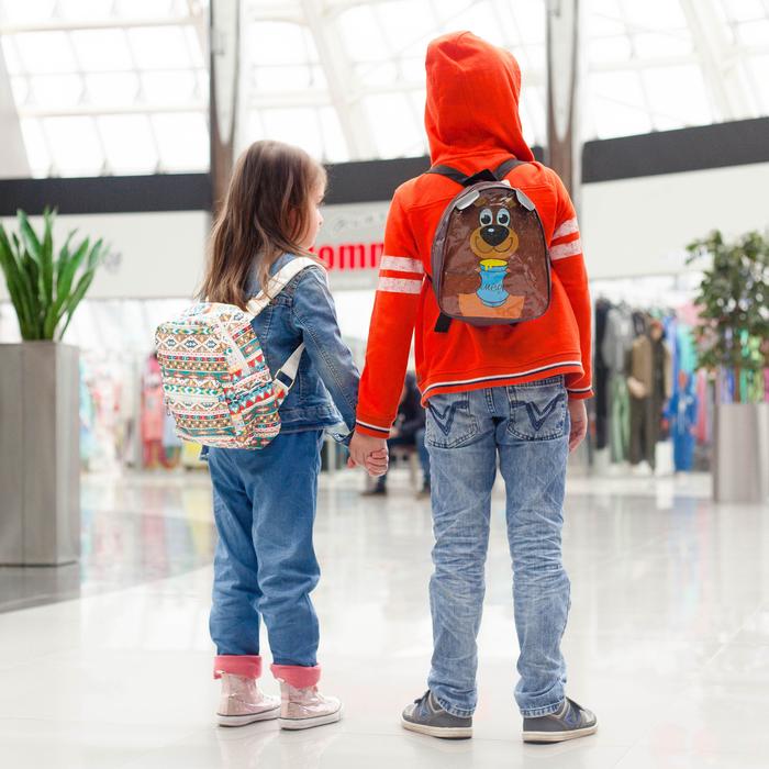 Рюкзак детский, отдел на молнии, наружный карман, 2 боковых кармана, цвет разноцветный - фото 369759044