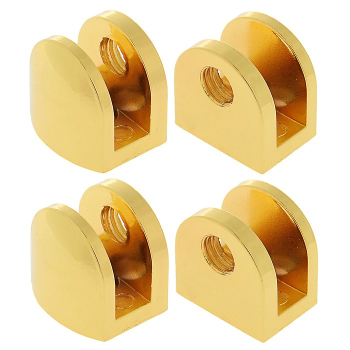 Полкодержатель P108GP, 8 мм, 4 шт в наборе, цвет золото