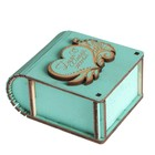 "Box tree, ""Be my wife 2"" turquoise 7х6х3,5 cm"