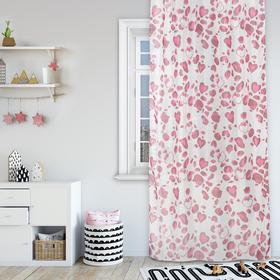Комплект штор Hello Kitty 150х270 см - 2 шт., цвет розовый, вуаль Ош