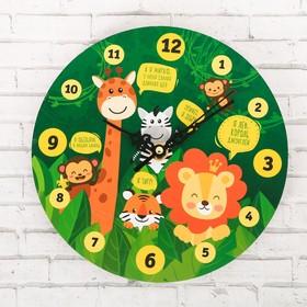 Часы обучающие 'Джунгли', 20 см Ош