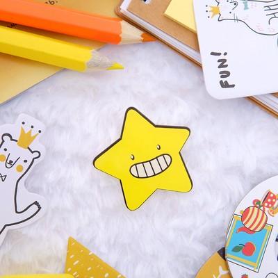 """Брошь """"Звезда веселая"""", цвет желтый"""