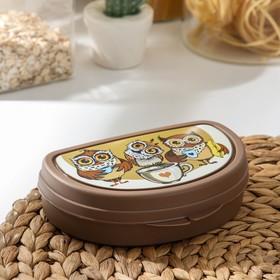 """Бутербродница """"Совы"""", цвет коричневый"""