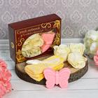 """Подарочный набор """"Самой любимой учительнице"""": мыльные лепестки (6 шт.), полотенце, мыло"""