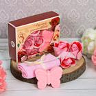"""Подарочный набор """"Лучшей учительнице"""": мыльные лепестки (6 шт.), полотенце, мыло"""