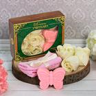 """Подарочный набор """"Лучшему учителю"""": мыльные лепестки (6 шт.), полотенце, мыло"""