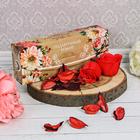 """Подарочный набор """"С днём учителя!"""": цветочная отдушка и мыльные лепестки, 4 шт."""