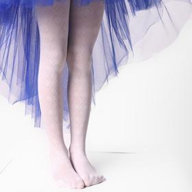 Колготки детские ажурные ЭРА Ромбы цвет белый, рост 128-134 (6-8 лет)