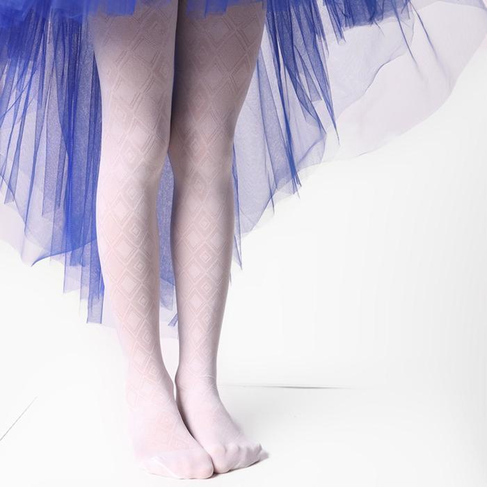 Колготки детские ажурные ЭРА Ромбы цвет белый, рост 146-152 (10-12 лет)