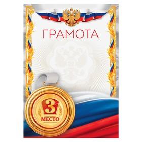Грамота спортивная '3 место', серия 006, 21х29,5 см Ош