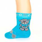 Носки детские махровые, цвет МИКС, размер 14