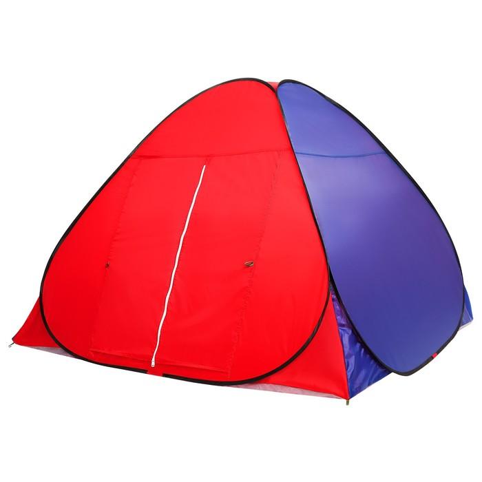 Палатка самораскрывающаяся 200х200х135 см, цвет синий - фото 35022