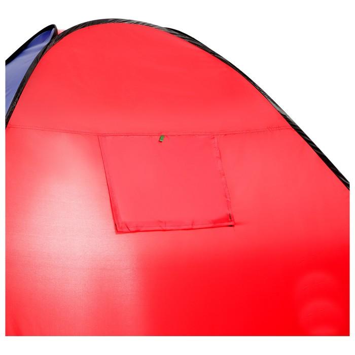 Палатка самораскрывающаяся 200х200х135 см, цвет синий - фото 35025