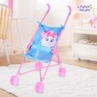 Stroller for dolls Pussy, plastic frame