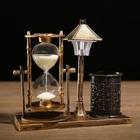 Часы песочные, подставка для карандашей, фонарик с подсветкой, микс, 6.5х15.5х14.5 см