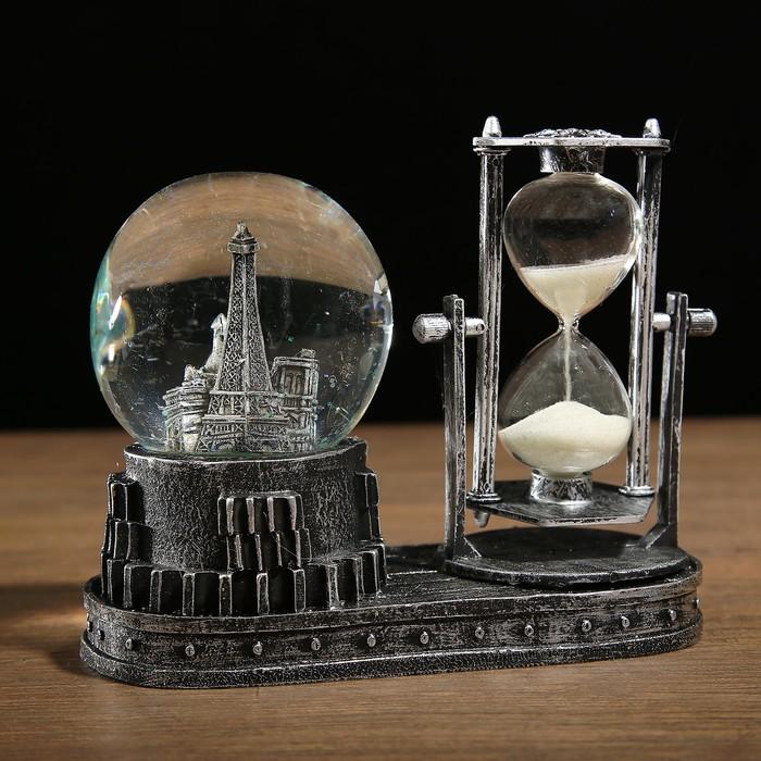"""Часы песочные """"Достопримечательности"""", с подсветкой, микс, 6.5х15.5х14.5 см,"""