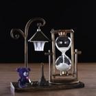 """Clocks """"Street lantern"""" illuminated, 15.5x6.5x15.5 cm, mix"""