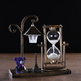 """Часы песочные """"Уличный фонарик"""" с подсветкой, 15.5х6.5х15.5 см, микс в Донецке"""