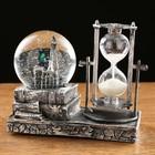 Часы песочные, шар с подсветкой, внутри Эйфелева башня, полистоун, микс, 15.5х8.5х14 см