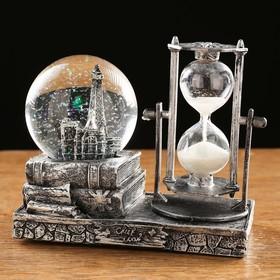 """Часы песочные """"Эйфелева башня"""" в форме шара с подсветкой, микс, 15.5х8.5х14 см в Донецке"""