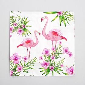 """Салфетки бумажные """"Парочка фламинго"""" (набор 20 шт) 33*33 см"""
