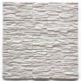 Декоративный камень Сланец каскад (40шт в наборе), белый, 1м2