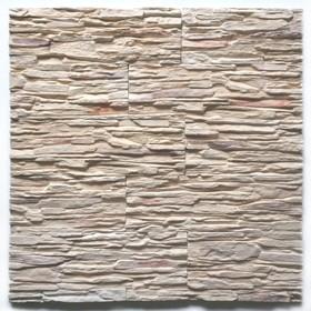 Декоративный камень Сланец каскад (40шт в наборе), бежевый, 1м2