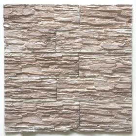 Декоративный камень Сланец каскад (40шт в наборе), белый с кор., 1м2
