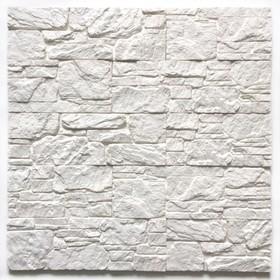 Декоративный камень Сланец ассорти (40шт в наборе), белый, 1м2
