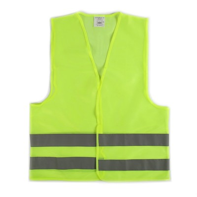 The motorist vest, yellow, size XXL, Velcro