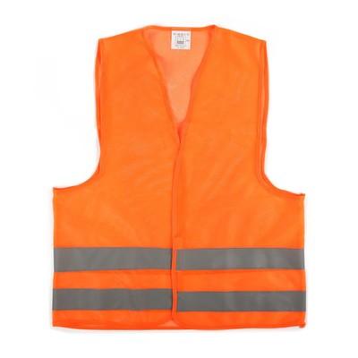 The motorist vest, orange, size XXL, Velcro