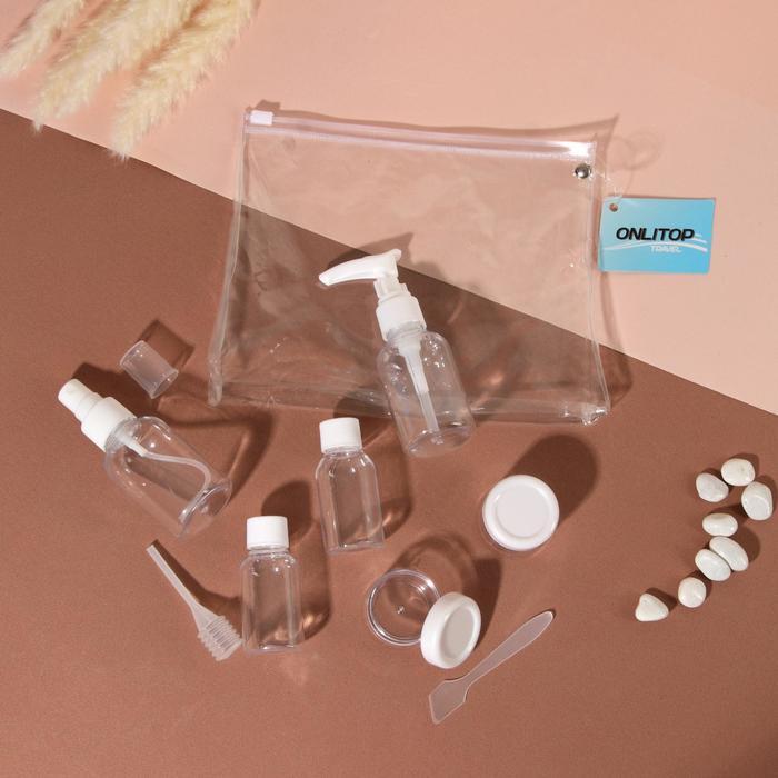 Набор для хранения в чехле, 8 предметов, цвет белый