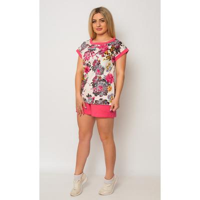 Комплект женский ТК-728 (футболка, шорты) цвет розовый, р-р 44