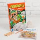 """Набор для проведения раскопок """"Животные Африки"""" раскраска + 6 цветов карандашей"""