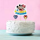 """Топпер в торт """"С Днем Рождения"""" Микки Маус и его друзья, с набором шпажек, 4 шт."""