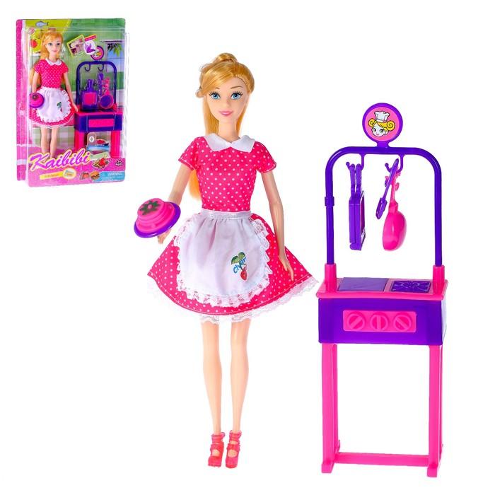 Кукла модель «Маша» с кухонным модулем и аксессуарами, МИКС