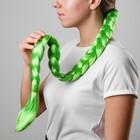 Коса на резинке 80 см, цвет зелёный